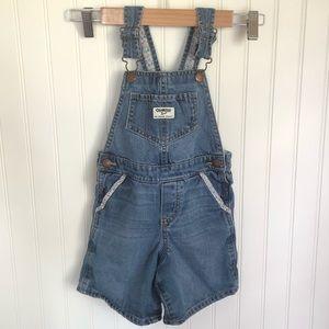 OshKosh | Blue Jean Shortalls Toddler Girl Size 4T
